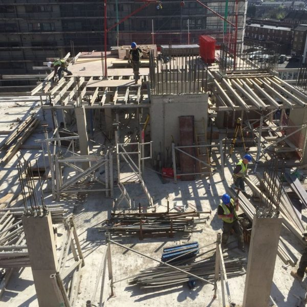 Slab works to the 7th floor at 28-29 Barnes High Street, London, T Vaughan Construction