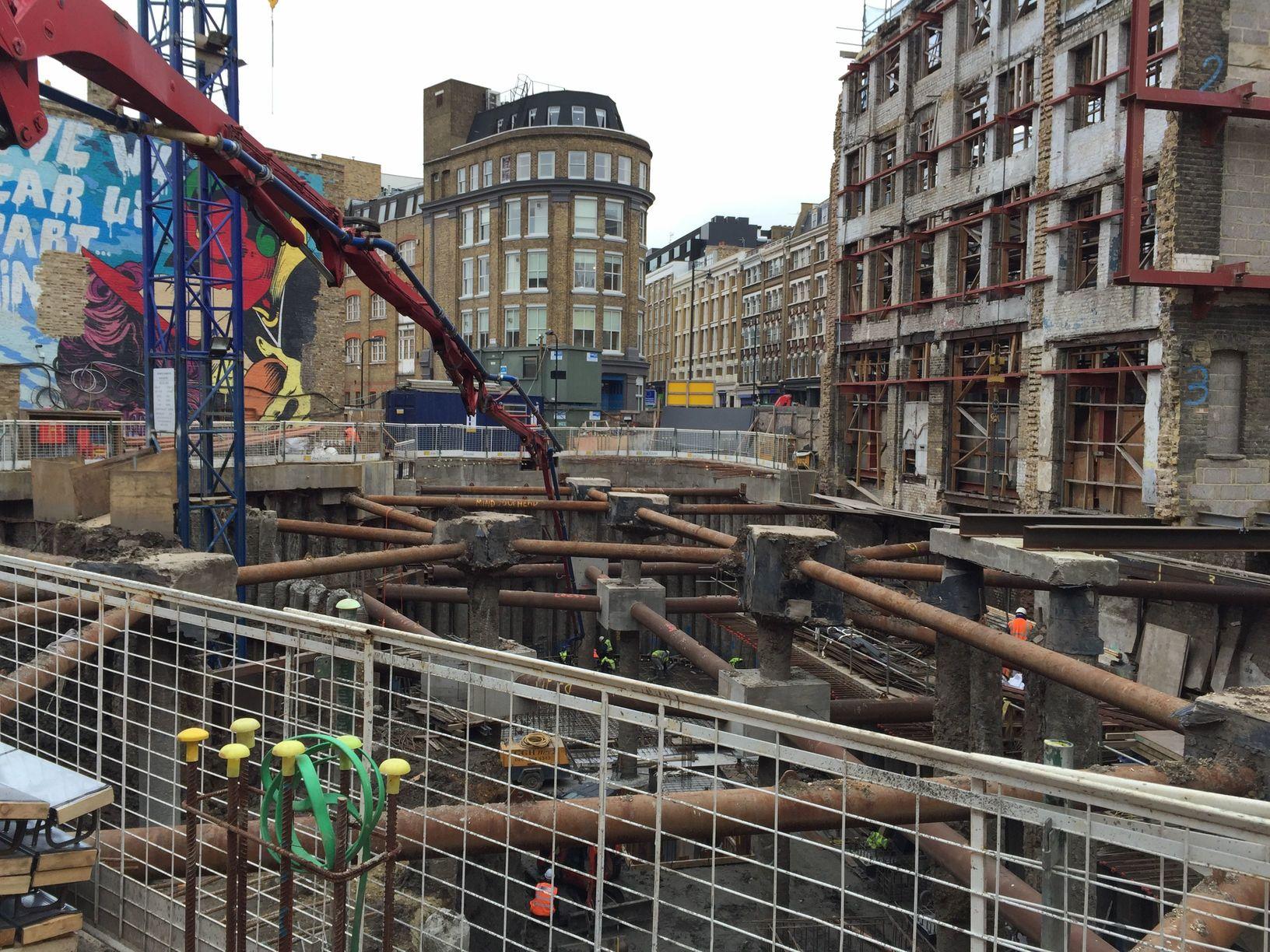 Pumping-concrete-to-lower-basement-using-57m-pump