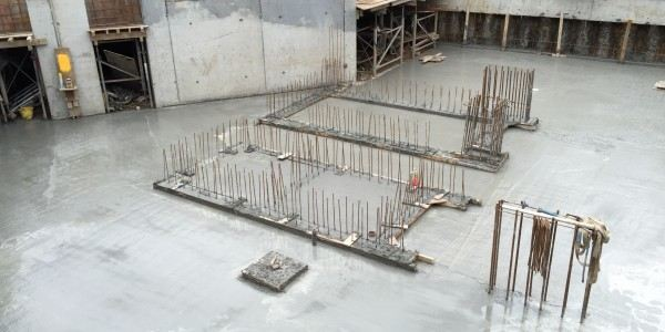 Basement slab – Second pour
